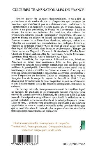4eme Cultures transnationales de France