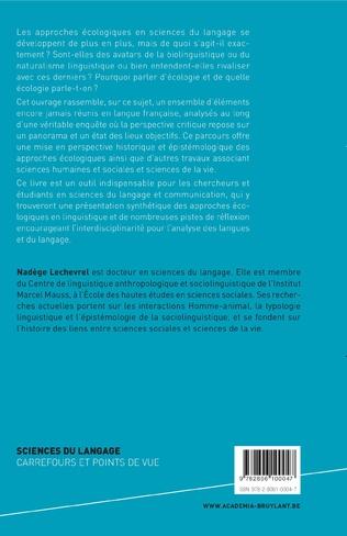 4eme Les approches écologiques en linguistique