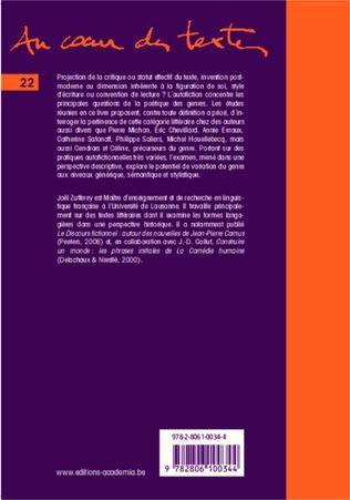 4eme L'autofiction: variations génériques et discursives