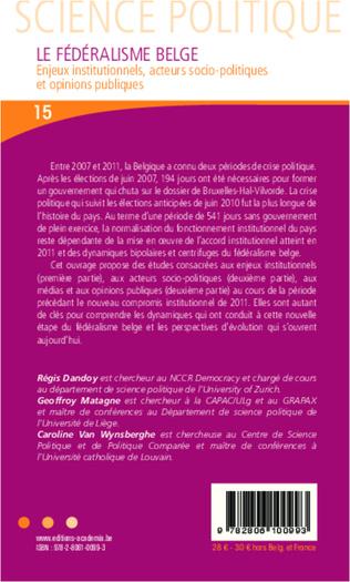 4eme Chapitre 5 - L'appel de la voie communautaire: syndicats, organisations patronales et nouveaux mouvements sociaux dans une Belgique redimensionnée