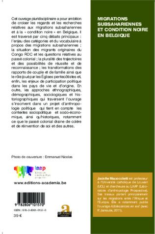 4eme Migrations subsahariennes et condition noire en Belgique