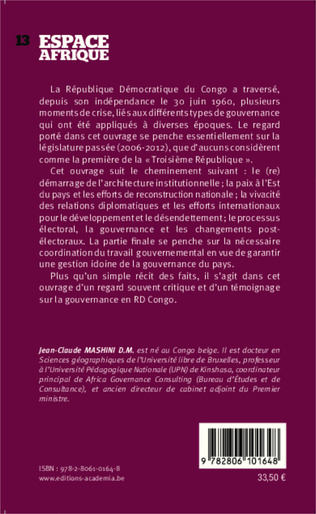4eme Gouvernance en RD Congo
