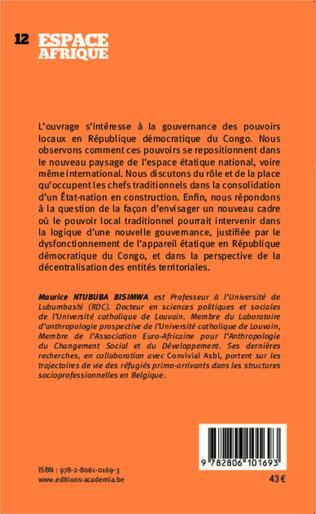 4eme Les pouvoirs politiques traditionnels dans la gouvernance démocratique en RDC