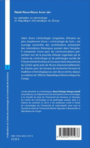4eme La recherche en criminologie en République Démocratique du Congo