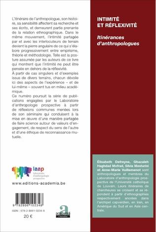 4eme Conséquences personnelles et collectives de l'intimité et de la réflexivité sur la démarche anthropologique