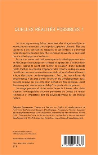 4eme Le développement rural en RD Congo