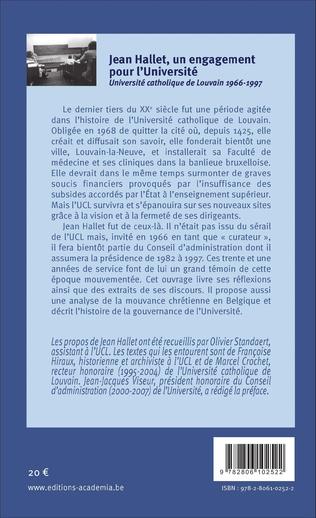 4eme Jean Hallet, un engagement pour l'Université