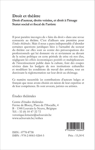 4eme Le metteur en scène en Belgique : artiste ou auteur ?