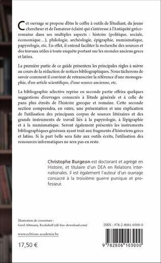 4eme Guide bibliographique de l'étudiant et du jeune chercheur en histoire gréco-romaine