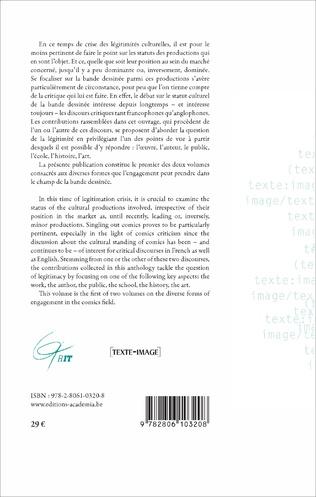 4eme Le statut culturel de la bande dessinée - Ambiguïtés et évolutions
