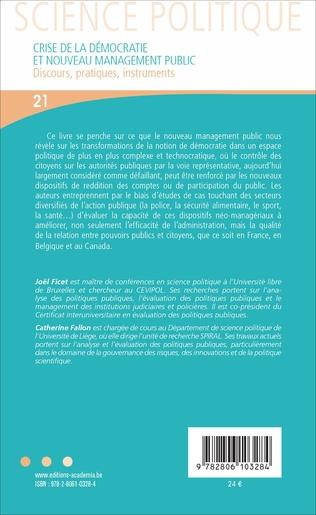 4eme CRISE DE LA DEMOCRATIE ET NOUVEAU MANAGEMENT PUBLIC