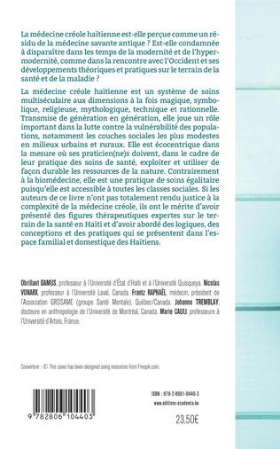 4eme Anthropologie de la médecine créole haïtienne