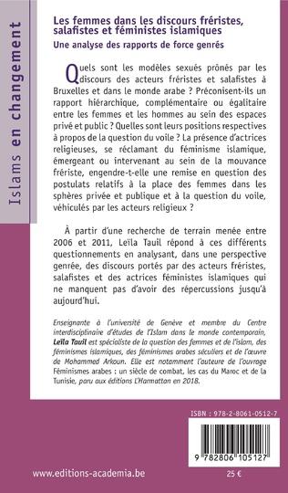 4eme Les femmes dans les discours fréristes, salafistes et féministes islamiques
