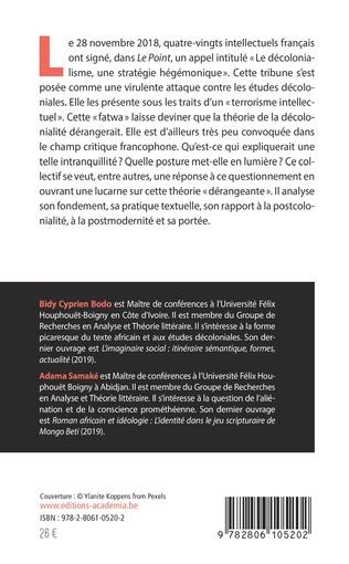 4eme La théorie de la décolonialité : Sémantique et pratiques textuelles
