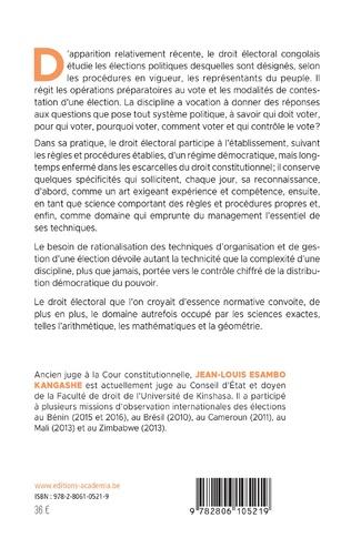 4eme Le droit électoral congolais