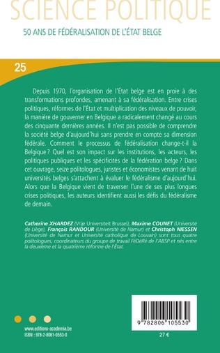 4eme 50 ans de fédéralisation de l'État belge