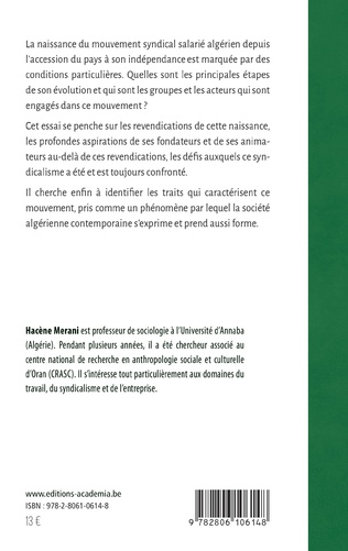 4eme De l'UGTA au pluralisme syndical