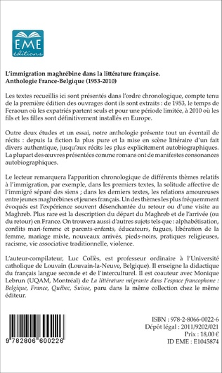 4eme L'immigration maghrébine dans la littérature française