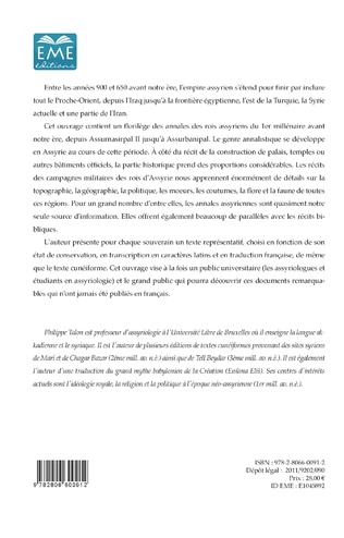 4eme Annales Assyriennes (Volume II)
