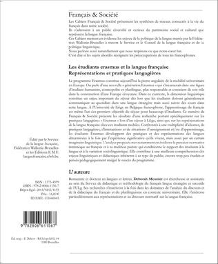 4eme Les étudiants Erasmus et la langue française