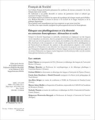 4eme Eduquer aux plurilinguismes et à la diversité en contextes francophones