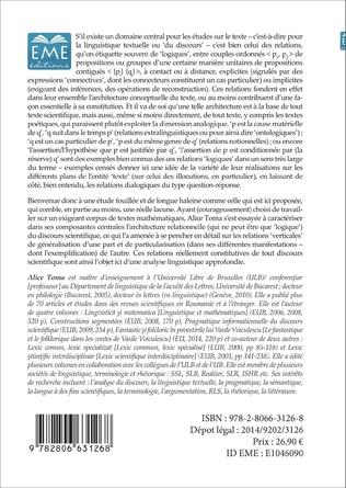 4eme L'architecture relationnelle du texte scientifique