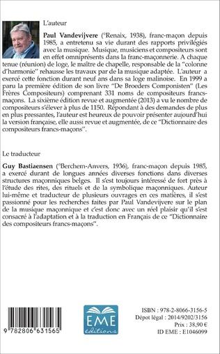 4eme Dictionnaire des compositeurs francs-maçons
