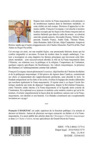 4eme Balades maçonniques en littérature