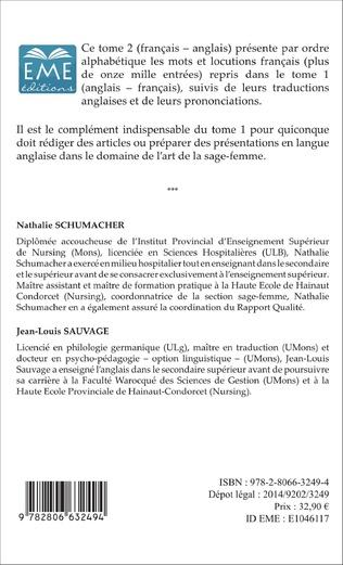 4eme Dictionnaire des sages-femmes (Tome 2)