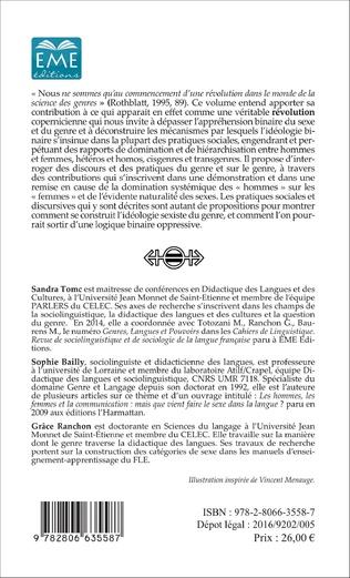 4eme Pratiques et langages du genre et du sexe :