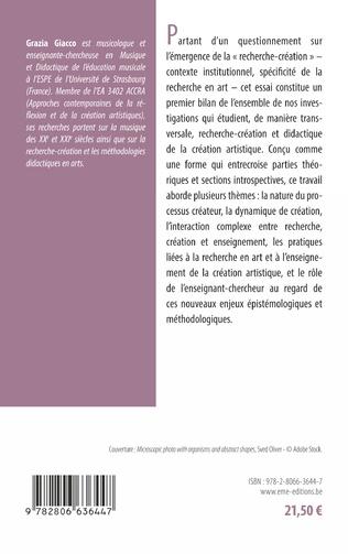4eme Recherche-création et didactique de la création artistique