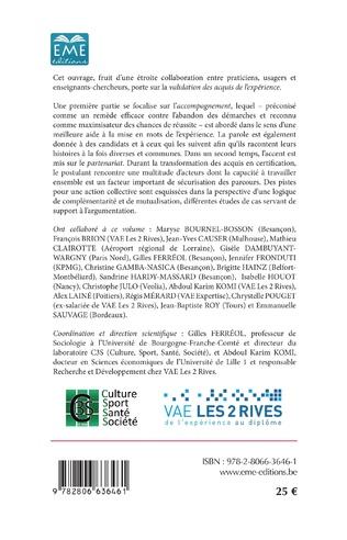 4eme La Validation des Acquis de l'Expérience : accompagnement et partenariat