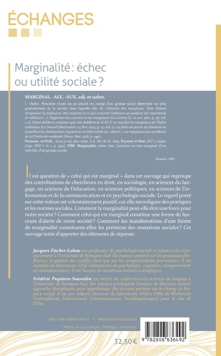 4eme Marginalité: échec ou utilité sociale ?