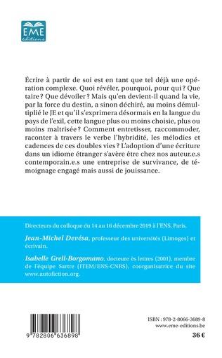 4eme L'écriture du Je dans la langue de l'exil