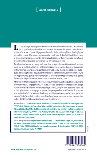 4eme SCIENCE POLITIQUE EN BELGIQUE FRANCOPHONE