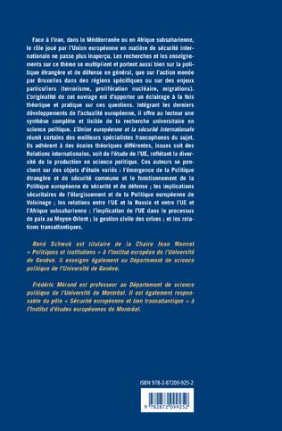 4eme L'Union Européenne et la sécurité internationale