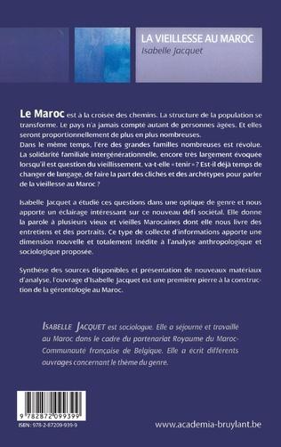 4eme LA VIEILLESSE AU MAROC