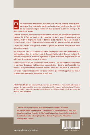 4eme LES ARCHIVES AUDIOVISUELLES