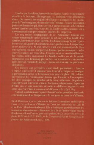 4eme Dictionnaire du personnel de la Cour des Comptes de Napoléon