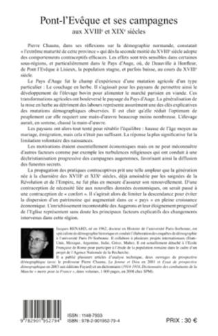 4eme Pont-l'Evêque et ses campagnes aux XVIIIe et XIXe siècles