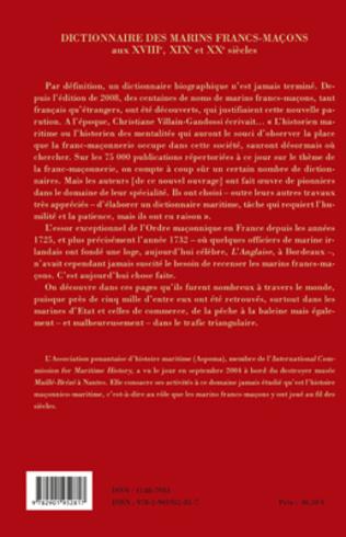 4eme Dictionnaire des marins francs-maçons, Gens de mer et professions connexes aux XVIIIe, XIXe et XXe siècles
