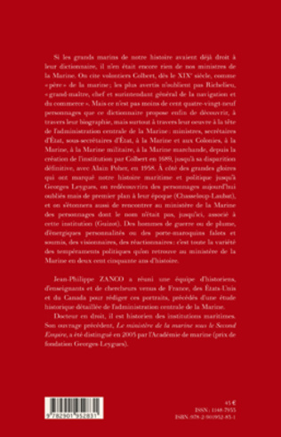 4eme Dictionnaire des ministres de la Marine (1689-1958)