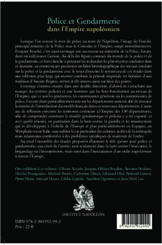 4eme Police et gendarmerie dans l'Empire napoléonien
