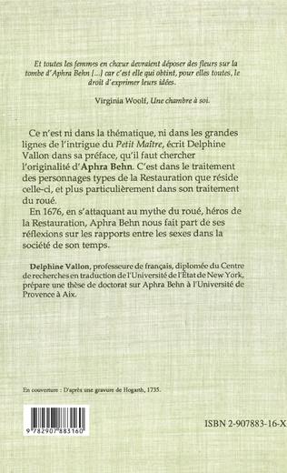 4eme Le petit maître (1676)