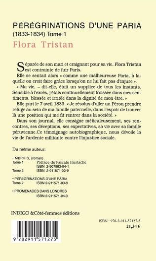 4eme Pérégrinations d'une paria (1833 -1834) Tome 1