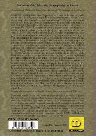 4eme Grammaire de l'objectivité scientifique