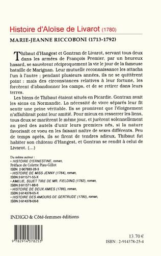 4eme Histoire d'Aloïse Livarot (1780)