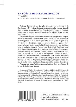 4eme La poésie de Julia de Burgos (1914-1953)
