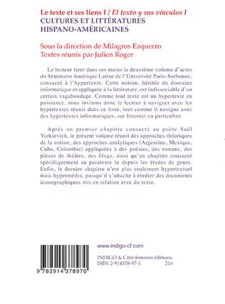 4eme Le texte et ses liens I/ El texto y sus vinculos I