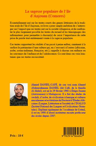 4eme La sagesse populaire de l'île d'Anjouan (Comores)